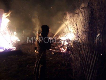 В Муромском районе сгорел дачный дом
