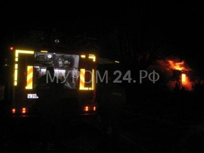 За сутки в Муромском районе сгорели два дома