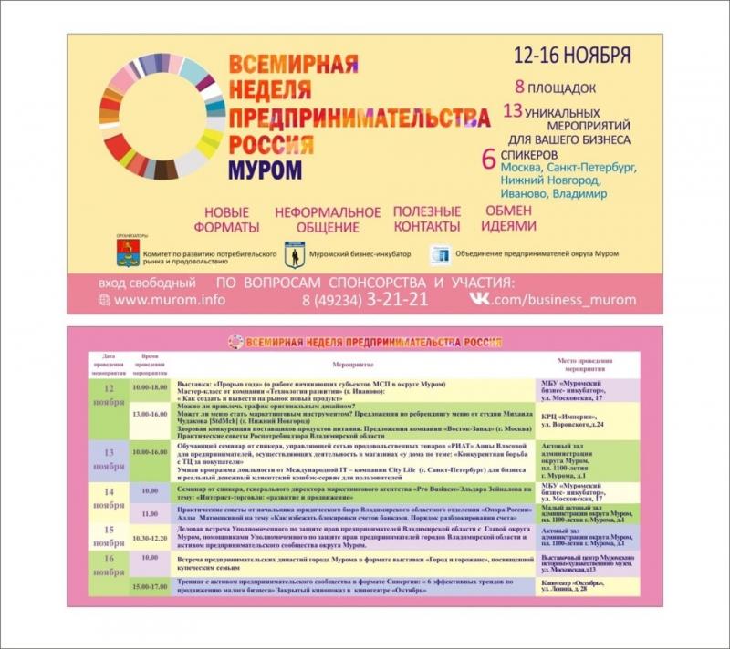 Муромские предприниматели заявят о себе на всю Россию и за ее пределами