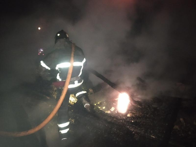 В Муромском районе ночью сгорел жилой дом